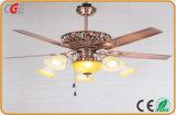 Satin Nickel Lnvisible Fan Ceiling Fan Household Light Uses, Summer Use LED Ceiling Fan Lamps 2018