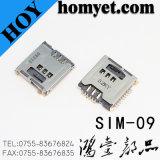 Разъем карточки нажима микро- SIM поставкы 1.35h 6p изготовлений для PC Phone&Tablet клетки