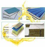 Colorear la tarjeta de emparedado revestida de las hojas de acero adhesiva