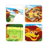 O transporte de animais de desenhos animados 9 peças do puzzle Madeira brinquedos de crianças.
