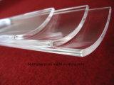 Het duidelijke Poolse Gesmolten Gewelfde Stuk van het Glas van het Kwarts