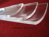 Haut de la transmission de l'Arc de la plaque de verre de quartz clair