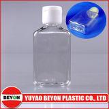 bouteille plate carrée en plastique blanche 2oz de jet de produits de beauté de l'animal familier 60ml