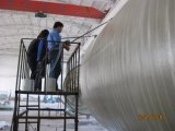 Máquina de bobinado horizontal de GRP o un buque tanque de plástico reforzado con fibra