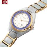 Het nieuwe Horloge van het Kwarts van de Saffier van de Luxe van de Aankomst Echte