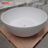 Kingkonree Faux-Stein-feste weiße Oberflächenbadewanne