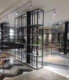 Soporte de visualización de piedra del salón de muestras de Cambira del metal de madera negro libre para el estante del azulejo de los azulejos