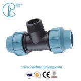 Installation facile de 40mm raccords de compression de PP de l'irrigation