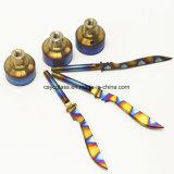 Инструмент Dabber ЛИМАНДЫ шпаги цветастой Titanium крышки карбюратора прямой