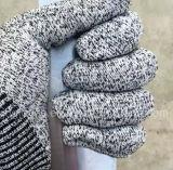 Отрежьте упорную перчатку работы безопасности с уровнем покрынным PU 5