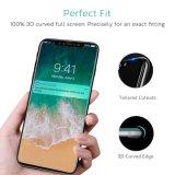 Da dureza 9h Tempered superior cheia da tecnologia de quadro de Ctunes 3D protetor de vidro da tela para o iPhone X