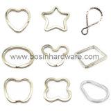 Anelli chiave spaccati personalizzati del metallo di figura