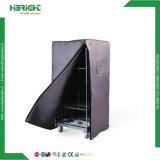 4 Tür-Draht-Falz-Rollenrahmen-Behälter mit Fußrolle