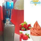 凍結する渦巻のフリーズのアイスクリーム機械