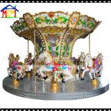El Kiddie de la fibra de vidrio 12seats monta el carrusel del caballo para la pista del juego de los cabritos