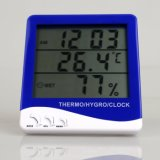 Temperatura de interior y al aire libre de múltiples funciones y termómetro de la humedad