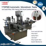 Máquina de etiquetado de relleno de Ytsp500 que capsula Monoblock para el jugo