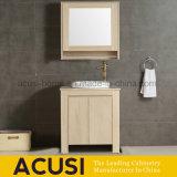 Pavimento che si leva in piedi vanità della stanza da bagno di disegno moderno di legno solido (ACS1-W95)