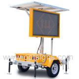 Los 5 colores lleno de energía Solar matriz VM de tráfico de tráiler, LED Moviendo mensaje firmar Vms-200-3
