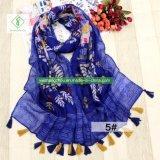新しいShawlふさを持つヒマワリによって印刷されるビスコーススカーフの方法女性