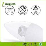 6W E12/E14/E27/B15 110-240V LEDの蝋燭の電球