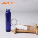 botella de perfume de cristal pintada azul 8ml con el dispensador recargable del cristal de botellas de perfume de la niebla del frasco de cristal cosmético fino del rociador