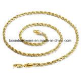 Braccialetto Chain placcato oro della corda di torsione dell'acciaio inossidabile