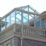 슬라이딩 윈도우를 가진 목제 색깔 금속 일광실