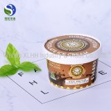 Taza impresa aduana disponible del helado del papel de yogurt congelado en China
