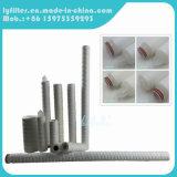 Cartucho de filtro de la herida de la cadena del polipropileno del algodón de la fibra de vidrio de 0.5 micrones para el producto químico (40 pulgadas)