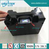Batteria del litio 12V 9ah LiFePO4 della batteria solare con il connettore dello zoccolo/CC della sigaretta del USB/5V
