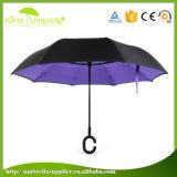Cのプラスチックハンドルが付いている最も安い防風の逆の傘