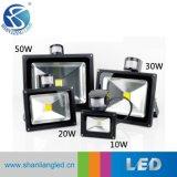 Sensor de movimento de venda quente Holofote LED 10W Holofote do Sensor de PIR