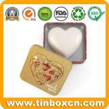 Cadre carré de bidon de savon en métal de 3.5 onces pour des cadeaux de mariage