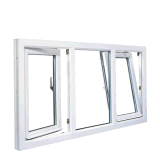 Profil en aluminium couleur bois vers l'intérieur et tourner l'inclinaison de la vitre