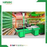 Supermercado mostradores Checkout Desk con cinta transportadora