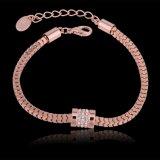 Bijou de mode de bracelet de Rhinestone plaqué par or promotionnel de Rose de cadeau