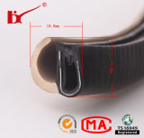 Tira de borracha da selagem do PVC da forma de U com metal