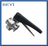 A válvula de borboleta manual sanitária da braçadeira do aço inoxidável de SS304/316L com braçadeira termina (DY-BV1007)
