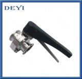 SS304/316Lのステンレス鋼クランプが付いている衛生手動クランプ蝶弁は終了する(DY-BV1007)