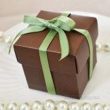 Boîtes en carton carrées colorées de boîte-cadeau de Customzied avec la soie
