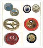 高品質の旧式な金によってめっきされる3D金属の記念品の硬貨