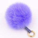 Catena chiave simile a pelliccia della sfera POM della pelliccia di Colorfurl per i sacchetti