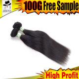Produits capillaires droits de cheveu indien de Vierge de la pente 6A