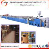 Linha de produção plástica de madeira do perfil do Decking do PVC