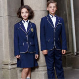Couche faite sur commande de graduation de pantalons de robe d'uniformes de classe de garçons et de filles d'uniformes scolaires d'automne et d'hiver