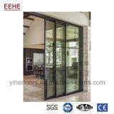 Puerta deslizante de aluminio con el vidrio doble Tempered