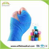 Fasciatura coesiva elastica non tessuta colorata consegna veloce del campione libero