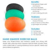 Covinhas Excel Squeeze bolas antiestresse por mão, dedo e segure o reforço - Conjunto de 3 Resistência
