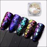 Galaxy Holo стекла нерегулярных лак для ногтей - Блестящие цветные лаки Chameleon хлопья украшения